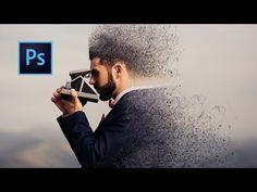 Dispersion Effect Using Brush   Photoshop Tutorial - YouTube
