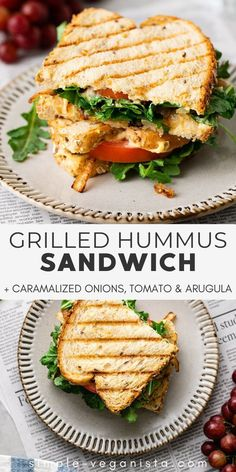 Veggie Recipes, Lunch Recipes, Whole Food Recipes, Vegetarian Recipes, Cooking Recipes, Healthy Recipes, Recipes With Hummus, Grilled Vegan Recipes, Vegetarian Grilling