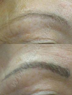 Micropigmentación de cejas. Antes y después. Resultados espectaculares.