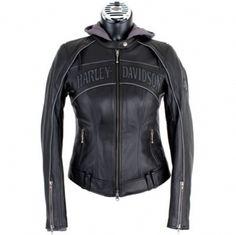 harley davidson clothing for women | ... Skull 3-in-1 Leather Jacket - Harley Davidson Womens, 98152-09VW/000L