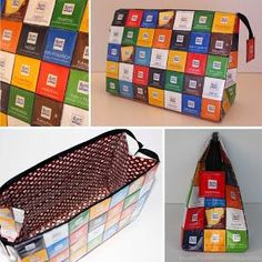 Ritter Sport Bag Toiletry Bag Pig Flask Recycling Upcycling Packing S . - Diy And Crafts Upcycled Crafts, Diy And Crafts, Ritter Sport, Toiletry Bag, Free Sewing, Bag Sewing, Diy Gifts, Bag Accessories, Sewing Projects