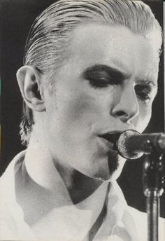The Thin White Duke, my favourite incarnation of David Bowie.