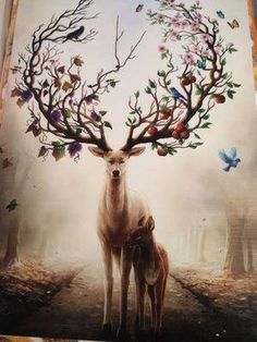 Modern Abstract Elk Deer Canvas Painting Frameless Wall Art Bedroom Living Room Home Decor - Newchic Mobile
