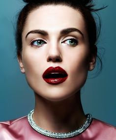 Katie McGrath - Now that is some heavy lipstick. O.O --Maid of Lorraine