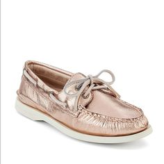 Rose Gold Sperry Top-Siders Pre-loved rose gold Sperrys. First pic was found online. Sperry Top-Sider Shoes