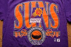 Phoenix Suns T-Shirt Purple Pinstripe Logo 7 NBA Apparel Vintage 90s by  TimeForMemories - f30b110b3