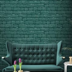 Add character to your home with this realistic Green Brick Effect Wallpaper.  Designed by Woodchip & Magnolia, this stylish wallcovering will bring a unique and eclectic touch to any space.