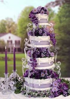black silver and purple wedding cakes   The colour purple - Weddings, Babies and Life in General