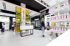 Pharmacy store display store design and shop fitting Pharmacy Design, Retail Design, Shop Interior Design, Store Design, Pharmacy Store, Costa, Shop Fittings, Store Displays, Retail Shop