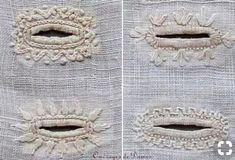 Most up-to-date Absolutely Free heirloom sewing tutorials Ideas Embroidered buttonholes, India and Pakistan Embroidery Techniques, Sewing Techniques, Embroidery Stitches, Embroidery Patterns, Hand Embroidery, Sewing Patterns, Knitting Stitches, Skirt Patterns, Coat Patterns