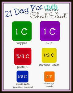 21 Day Fix Cheat Sheet: Need help with those container sizes... it's all right here for you!