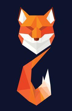 هارمونی که داره Geometric Fox Art Print by Nate Xopher Fox Design, Animal Design, Tattoos Fuchs, Animal Drawings, Art Drawings, Fuchs Illustration, Arte Steampunk, Geometric Fox, Polygon Art