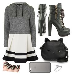 """""""Untitled #113"""" by supemrs on Polyvore featuring Lipsy, Topshop, Luichiny, Loungefly and Native Union"""
