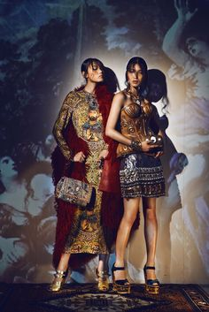 Fall Winter 2013 Collections Through The Eye of Rococo for Marie Claire HK