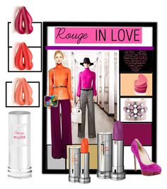 """Rouge In Love - Lancome"" by nessa-stylista ❤ liked on Polyvore featuring Emilio Pucci and Lancôme"