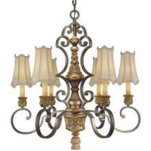 """View the Metropolitan N6006 Tuscan Six Light 31"""" Diameter Chandelier from the Habana Nights Collection at LightingDirect.com."""
