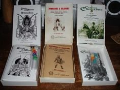 Wow, would love to own all these!  Dungeons and dragons triple whitebox