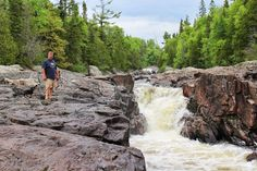 Agawa Falls, Lake Superior Provincial Park,  Lake Superior Circle Tour, Canada