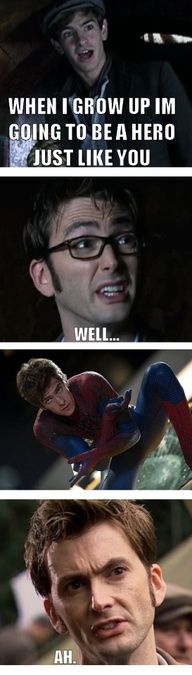 "When I saw that episode i was like ""It's Andrew Garfield! No, no buts, its him. Better IMDb it."" *proceeds to IMDb like never before* ""Holy Gallifrey, its Andrew Garfield. Freakin' Spider-Man was on Doctor Who! Fandoms Unite, Funny Memes, Hilarious, Funny Quotes, Fandom Crossover, Cinema, Don't Blink, Amazing Spiderman, Jokes"