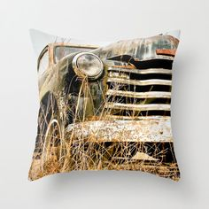 Throw Pillow Cover Old Chevy Truck Vintage by PausePhotography