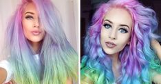 Rainbow Pastel Hair Is A New Trend Among Women | Bored Panda