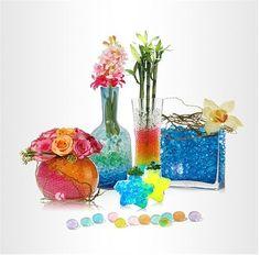 Crystal soil, floral gel, water gel, water beads centerpiece