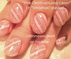 """christmas nail art"" ""christmas nails"" ""diva nail art"" ""holiday nail art"" ""how to"" ""robin moses"" ""robinmosesnailart"" ""candy cane nails"" ""poinsettia nail art"" ""christmas flowers"" ""beautiful holiday ideas"" Holiday Nail Art, Christmas Nail Designs, Christmas Nail Art, Christmas Candy, Pink Christmas, Red And Gold Nails, Pink Glitter Nails, Nail Pink, Cute Nail Art"