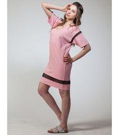 Mix Mesh T-Shirt Dress