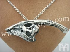 Hey, I found this really awesome Etsy listing at https://www.etsy.com/listing/124268429/sterling-silver-parasaurolophus-dinosaur