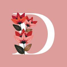 'Venice Floral Monogram D' by werlangpaper Cute Wallpaper Backgrounds, Galaxy Wallpaper, Cute Wallpapers, Monogram Wallpaper, Alphabet Wallpaper, I Miss You Wallpaper, Picture Wreath, Apple Logo Wallpaper Iphone, Bullet Journal Art