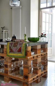 Bancadas e Móveis de Cozinha com Pallets