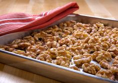 Toasting walnuts. This is easy to do and makes them much tastier.