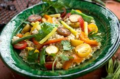 Spicy Pearl Couscous Salad by David Tanis