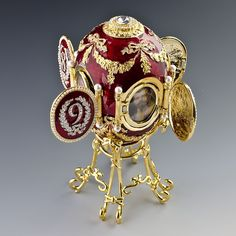 Caucasus Faberge Egg, Russian Jeweled Royal Imperial Egg 1893
