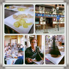 Comida y cumpleaños de Fina junto a su regalo dulce elaborado por La Republique Brasserie.