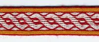 The Adapted Birka twining motif Card weaving  ALSO this website has FANTASTIC Viking-esque food recipes. FANTASTIC.