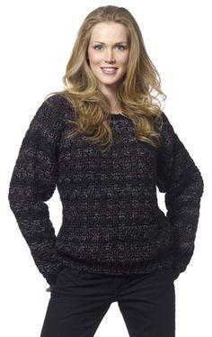 Boyfriend Sweater: Basketweave stitch