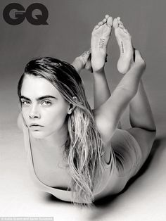 Hold the position: Rita's beautiful image appears in the same issue as 23-year-old Cara Delevingne's, which shows her wearing a plain vest top and matching underwear