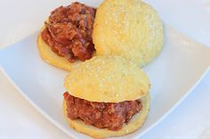 "Sloppy joes on ""healthified"" buns"