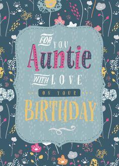 Happy Birthday Aunt From Niece, Happy Birthday Wishes Aunt, Birthday Greetings For Aunt, Birthday Cards For Women, Happy Birthday Quotes, Birthday Love, Happy Birthday Cards, Birthday Stuff, Bday Cards