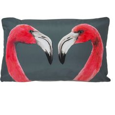 Katie & the Wolf - Flamingos Cushion (700 NOK) ❤ liked on Polyvore featuring home, home decor, throw pillows, fillers, cushions, decor, pillows, lilac throw pillows, handmade home decor and set of 2 throw pillows