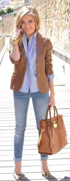 Brown and Blue Combination Ideas For Work                              …
