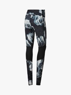 the best attitude e9616 fe2b9 BuyReebok Running Essentials Printed Running Tights, Black, XS Online at  johnlewis.com