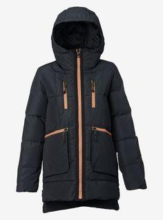 Women's Burton King Pine Down Jacket shown in True Black