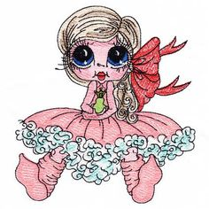 Little Princess - Besties Collection 11 Embroidery Software, Machine Embroidery Applique, Free Machine Embroidery Designs, Embroidery Patterns, Big Eyes, Little Princess, Fabric Material, Besties, Coloring Pages