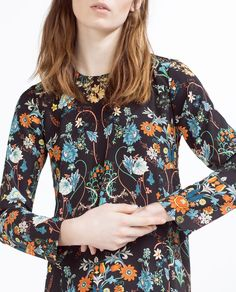 Image 4 of BABY DOLL PRINTED DRESS from Zara