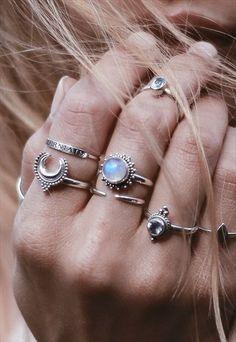 Arya Blue Topaz Sterling Silver Ring