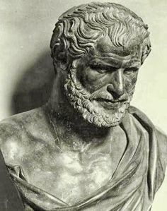 Bust of Democritus found in the Villa of the Papyri in Herculaneum
