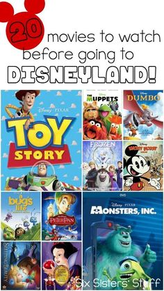 Going to Disneyland? Here are 20 movies to watch before going, from SixSistersStuff - - Going to Disneyland? Here are 20 movies to watch before going, from SixSistersStuff Going to Disneyland? Here are 20 movies to watch before going, from SixSistersStuff Disneyland Movies, Disneyland World, Disney Movies To Watch, Disneyland California, Disneyland Trip, Disneyland Resort, Disney Movies For Boys, Disneyland Ideas, Disneyland Birthday
