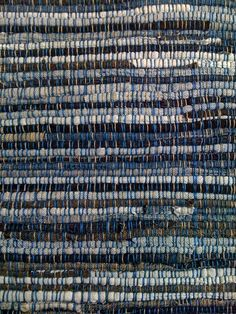 Denim rag rug. My auntie used to make these and we have one.  It is still amazing many years later.  A favorite!